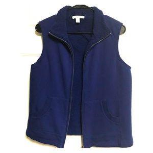 Coldwater Creek royal blue fleece vest.